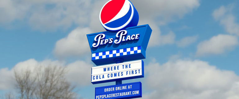 Pepsi Pep's Place Sign